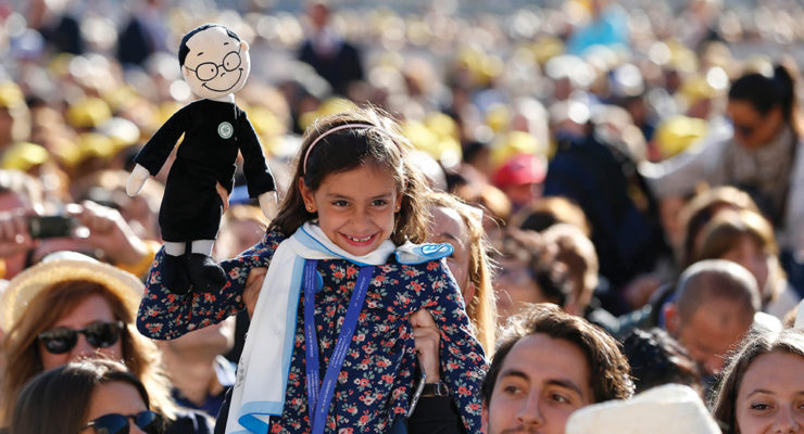 Christian life is a love story with God, says pope, proclaiming 35 new saints