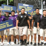 Photo: Marching against violence