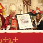 Photo: Rosary relay award